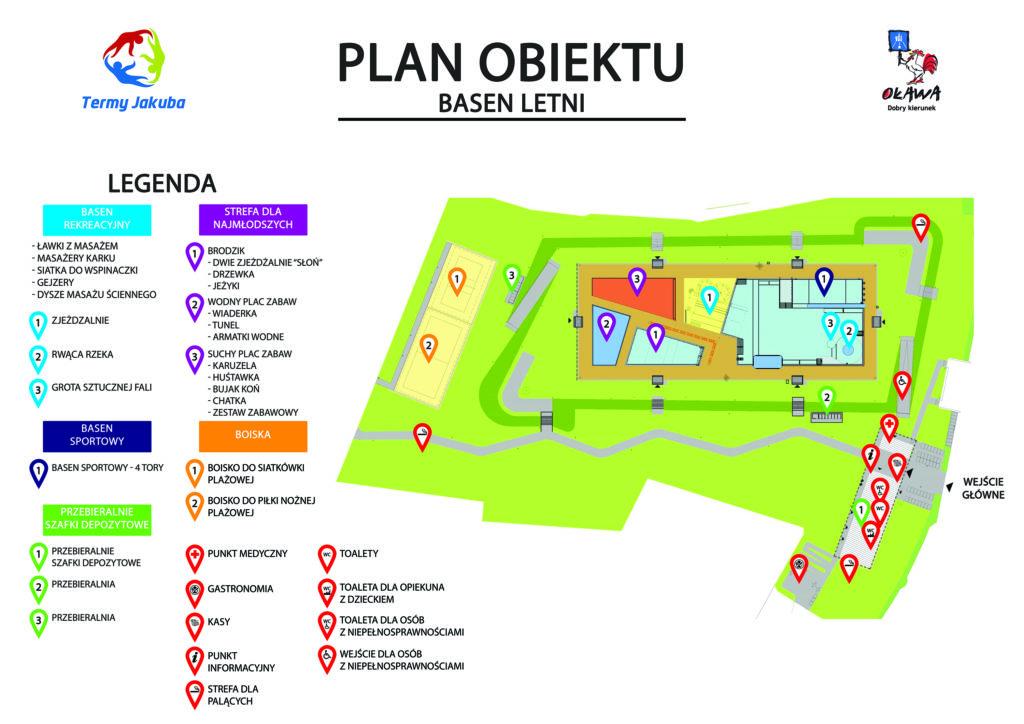 plan obiektu basen letni termy jakuba