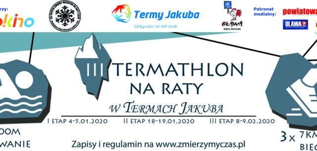 zawody organizowane w termach jakuba. Połączenie pływania na basenie i biegu. Aquathlon. Termathlon.