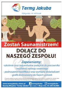 plakat: zatrudnimy saunamistrza