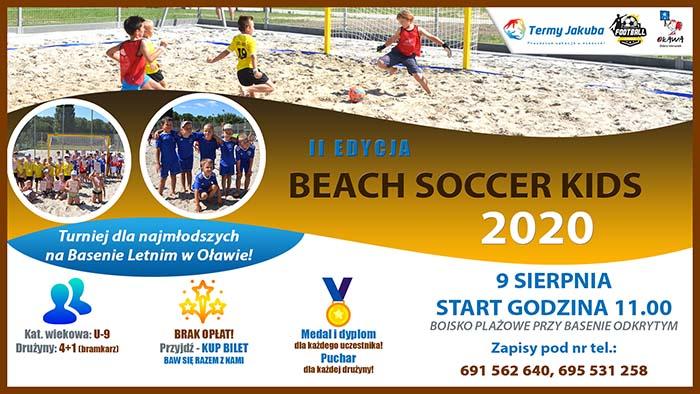 plakat II edycji turnieju beach soccer kids 2020