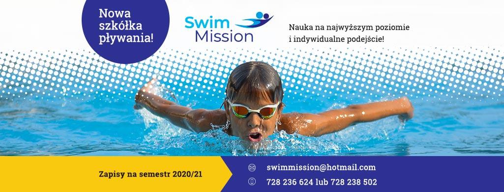 baner szkoły pływania swim mission