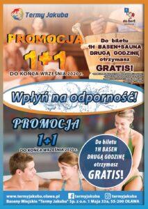 basen miejski termy Jakuba promocja 1+1 sana saunarium oława olawa druga godzina gratis