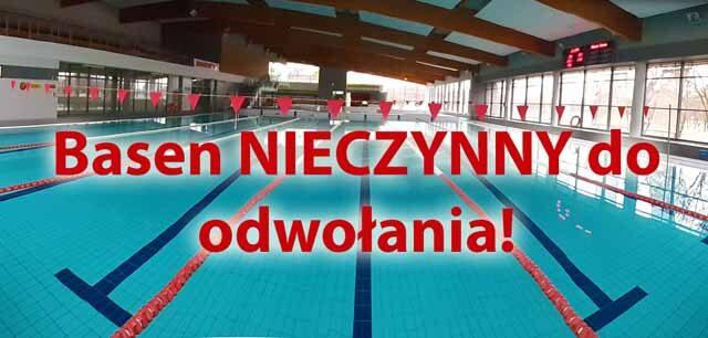 informacja o zamknięciu basenu