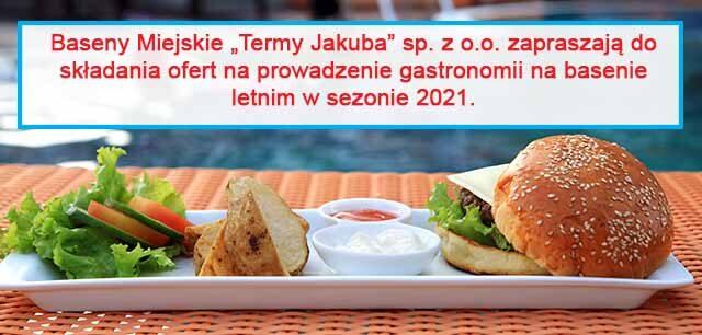 informacja o składaniu ofert na gastronomię
