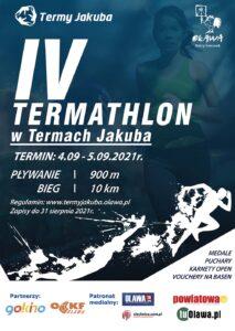 plakat IV edycji termathlonu w termach jakuba